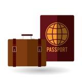 Illustrazione di vettore di viaggio, icona di vettore Fotografia Stock Libera da Diritti