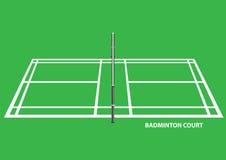 Illustrazione di vettore di vista laterale del campo da badminton Immagini Stock