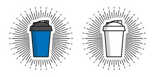 Illustrazione di vettore di due agitatori illustrazione di stock