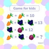 Illustrazione di vettore Educativo un gioco matematico Compito di logica Immagine Stock