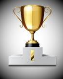 Tazza del trofeo dell'oro Immagini Stock Libere da Diritti