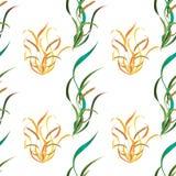 Illustrazione di vettore - fiori e foglie delle piante Fotografia Stock