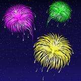 Illustrazione di vettore - fuoco d'artificio. illustrazione di stock