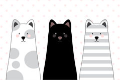 Illustrazione di vettore - gatti Illustrazione di Stock