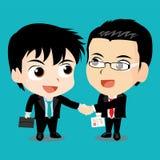 Illustrazione di vettore - gente di affari che stringe le mani Fotografia Stock