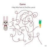 Illustrazione di vettore Gioco per i bambini labirinto o labirinto per il ki Fotografia Stock