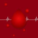 Illustrazione di vettore Giorno June-14 del donatore di sangue del mondo Concetto di donazione di sangue con goccia Campagna glob Immagini Stock