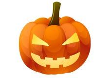 Illustrazione di vettore Halloween Zucca su priorità bassa bianca Fotografie Stock