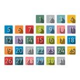 Illustrazione di vettore Icona del calendario di colore Fotografia Stock