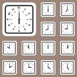 Illustrazione di vettore, icona dell'orologio per la progettazione e creativa Fotografia Stock Libera da Diritti