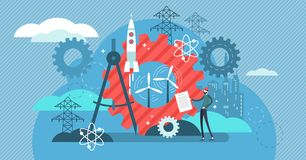 Illustrazione di vettore di ingegneria Occupazione urbana professionale dell'architetto royalty illustrazione gratis