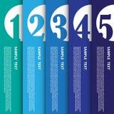 Illustrazione di vettore, insegna moderna di Infographic per lavoro creativo Fotografie Stock Libere da Diritti