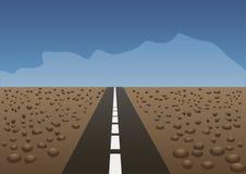 Illustrazione di vettore La strada in deserto Fotografia Stock