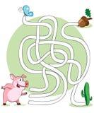 Illustrazione di vettore, labirinto. Fotografia Stock Libera da Diritti