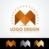 Illustrazione di vettore di m. Letter Logo Templates Fotografie Stock