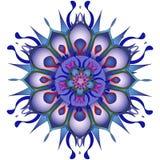 Illustrazione di vettore Mandala blu astratta su un fondo bianco Fotografia Stock Libera da Diritti