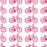 Illustrazione di vettore Modello senza cuciture con le bici su fondo bianco illustrazione di stock