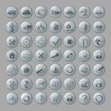 Illustrazione di vettore, mostrante 49 icone illustrazione di stock