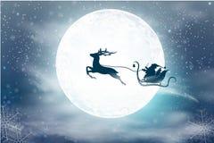 Illustrazione di vettore di Natale con un'insegna con le feste che accolgono Cartolina di Natale immagine stock