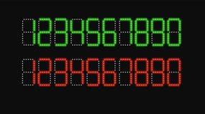 Illustrazione di vettore di numeri di Digital illustrazione di stock