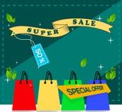 Illustrazione di vettore Offerta speciale Vendita mega, insegna mega limitata di vendita di offerta Manifesto di vendita Grande v illustrazione vettoriale