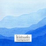 Illustrazione di vettore Paesaggio dell'acquerello con le montagne Fotografie Stock