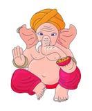 Illustrazione di vettore per Ganesh Chaturthi Festivity: Lord Ganesha anche conosciuto come Ganapati, Vinayaka, Pillaiyar e Binay illustrazione vettoriale