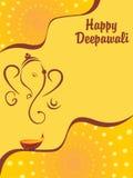 Illustrazione di vettore per il diwali felice Fotografia Stock