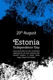Illustrazione di vettore per il giorno di 20 August Estonia Independence Immagine Stock Libera da Diritti