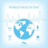 Illustrazione di vettore per il giorno di salute di mondo Immagini Stock