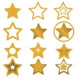 Illustrazione di vettore per progettazione della stella Fotografie Stock Libere da Diritti