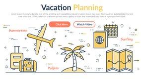 Illustrazione di vettore di pianificazione di Vacantion dell'intestazione illustrazione di stock