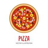 Illustrazione di vettore di pizza italiana Immagini Stock Libere da Diritti