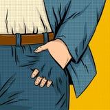 Illustrazione di vettore di Pop art del foro della tasca Immagine Stock Libera da Diritti