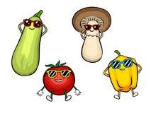 Illustrazione di vettore di Pop art del sunbath delle verdure royalty illustrazione gratis