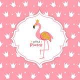 Illustrazione di vettore di principessa Flamingo Crown Background illustrazione di stock