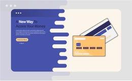 Illustrazione di vettore di pubblicità della carta di credito
