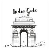 Illustrazione di vettore di schizzo del portone dell'India royalty illustrazione gratis