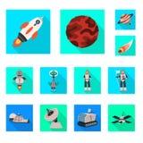 Illustrazione di vettore di scienza e del simbolo cosmico Metta dell'illustrazione di riserva di vettore di scienza e tecnologia illustrazione di stock