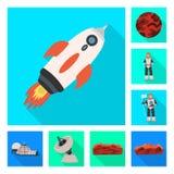 Illustrazione di vettore di scienza e del simbolo cosmico Metta dell'illustrazione di riserva di vettore di scienza e tecnologia royalty illustrazione gratis