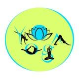 Illustrazione di vettore - simbolo di yoga Fotografie Stock Libere da Diritti