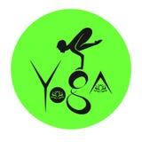 Illustrazione di vettore - simbolo di yoga Fotografia Stock