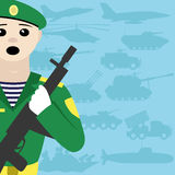 Illustrazione di vettore soldato Immagine Stock