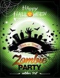 Illustrazione di vettore su un tema del partito dello zombie di Halloween Fotografia Stock