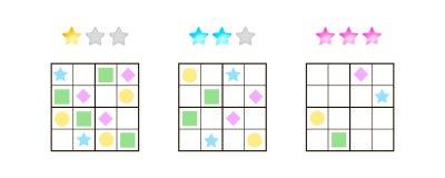 Illustrazione di vettore Sudoku per i bambini con le immagini a differente Fotografia Stock Libera da Diritti