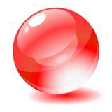 Illustrazione di vettore. Tasto lucido rosso di Web del cerchio Immagine Stock Libera da Diritti
