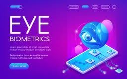 Illustrazione di vettore di tecnologia di biometria dell'occhio illustrazione di stock