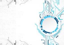Illustrazione di vettore, tecnologia digitale di Ciao-tecnologia e ingegneria illustrazione di stock