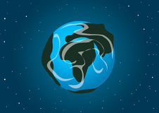 Illustrazione di vettore Terra del pianeta nello spazio Immagini Stock