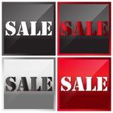 Illustrazione di vettore, testo di vendita Immagine Stock